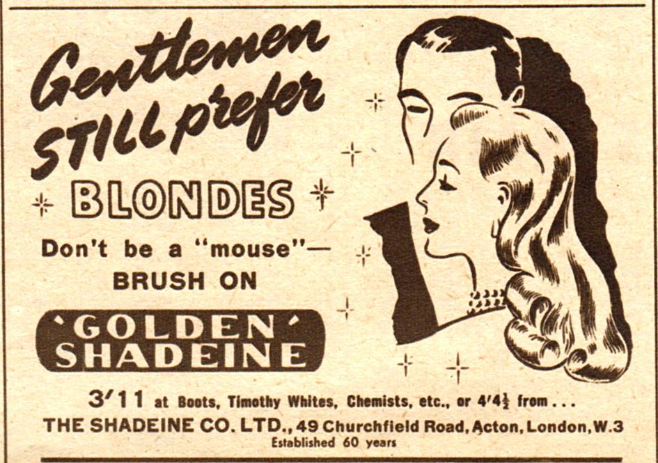 Gentlemen prefer blondes copy
