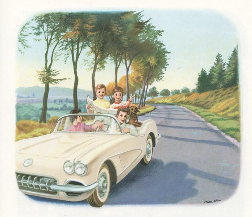 Martine en Corvette