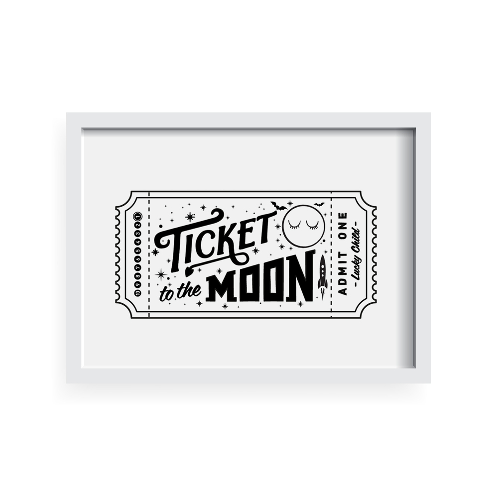 the Moon Pillow case by Pop Factory Shop