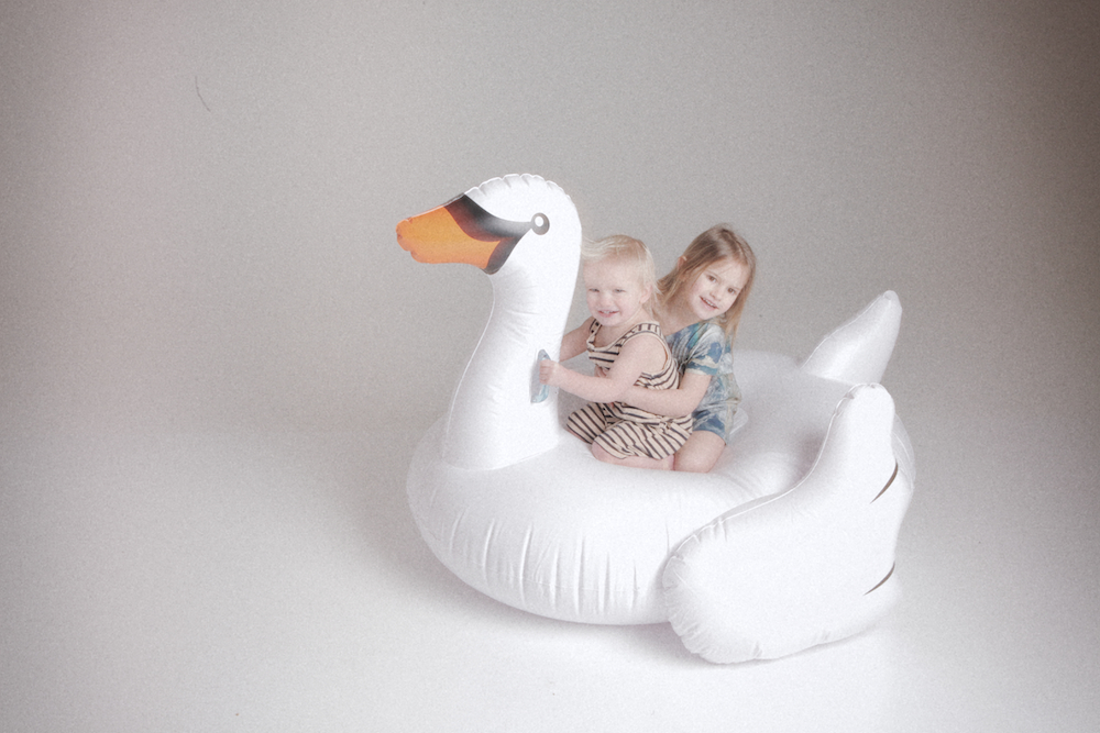 Cissy_wears_swan_inflatable_pool