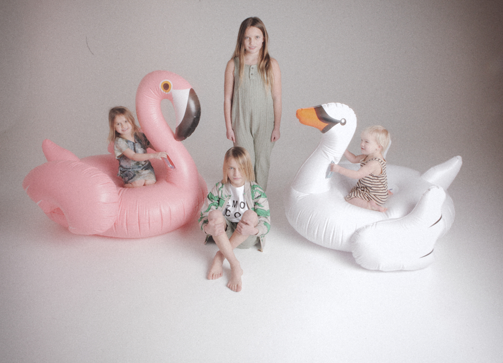cissy_wears_giant_inflatables_swan_flamingo_pool