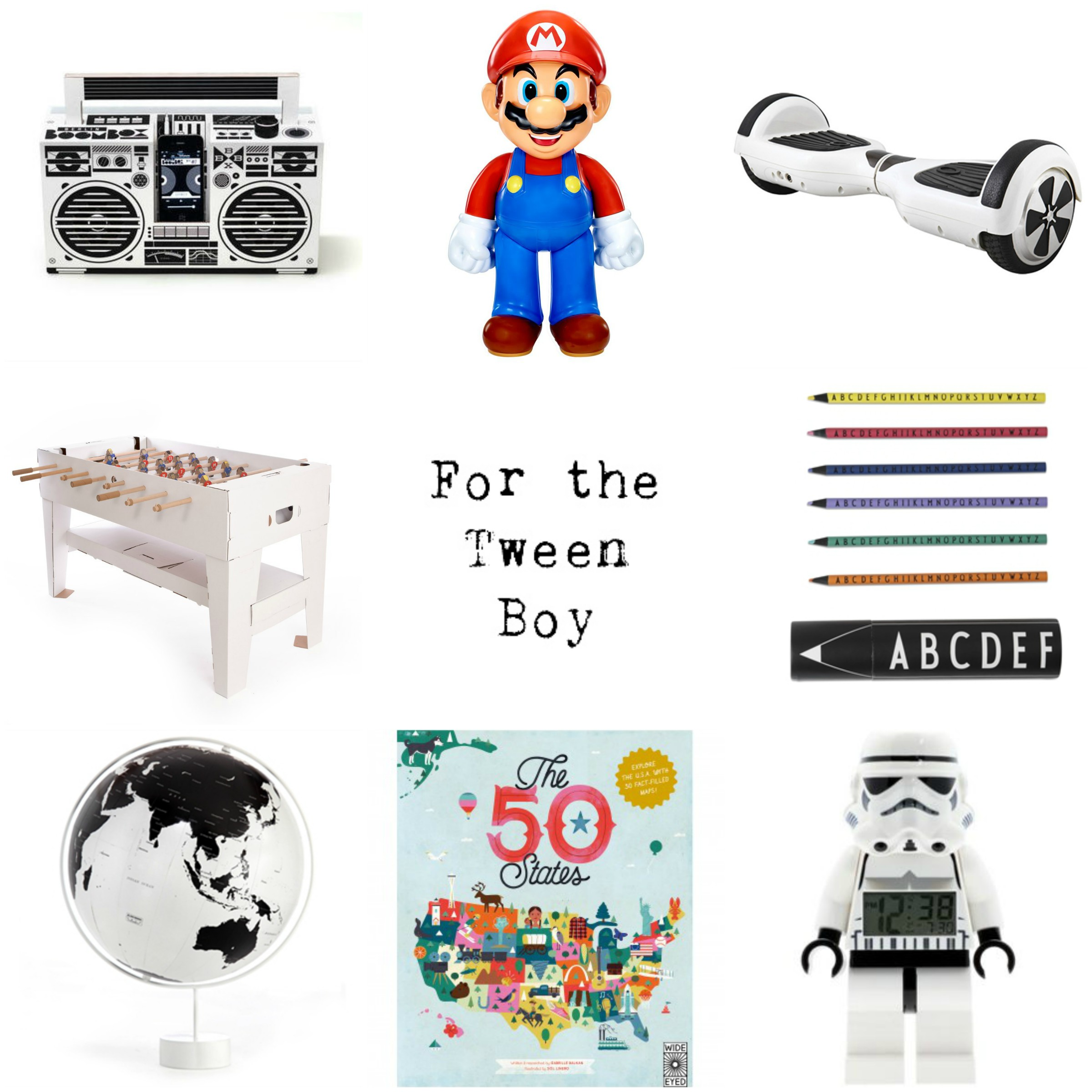 Tween boy gift guide christmas