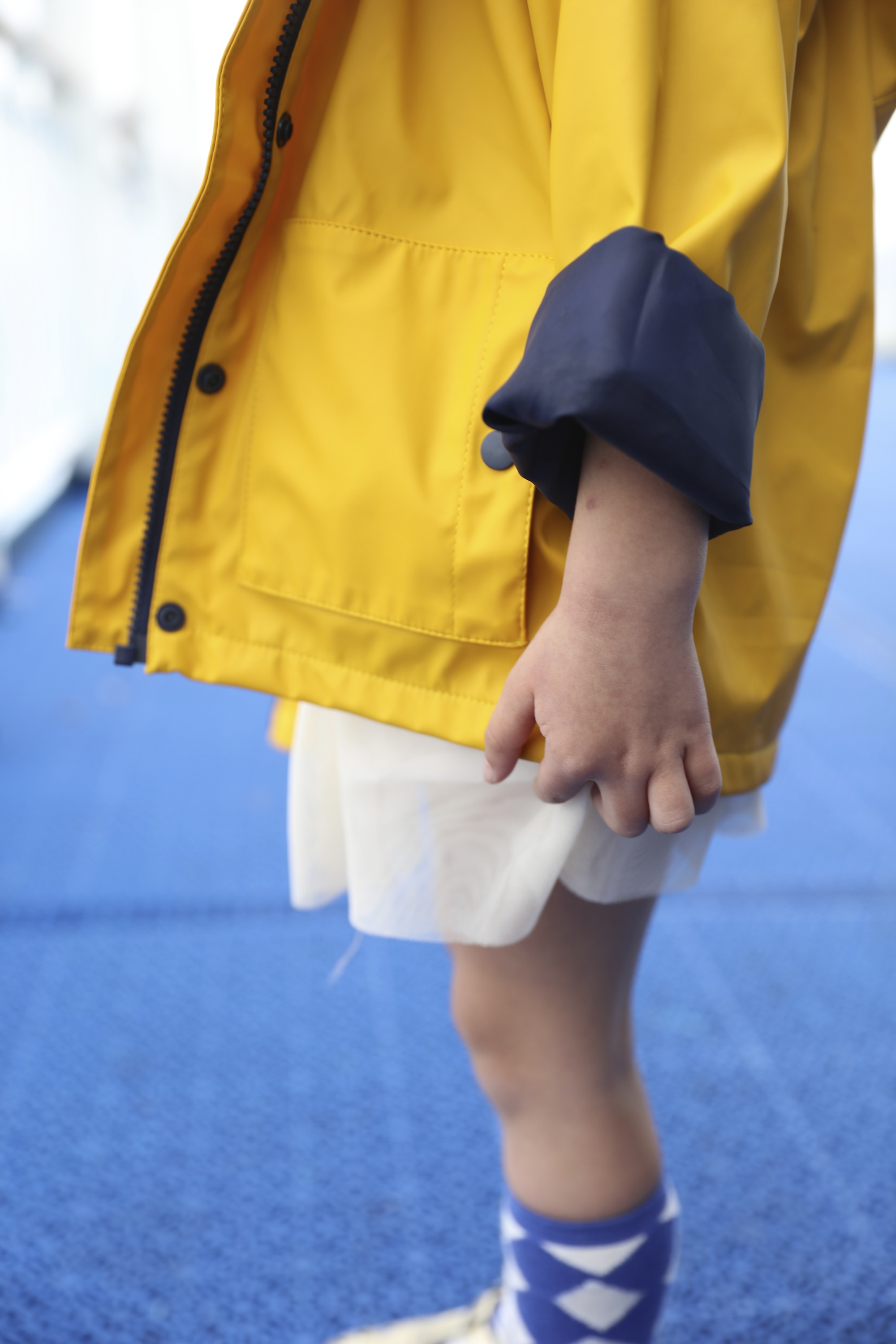 Muddy_pudles_yellow_raincoat_mac_sleeve