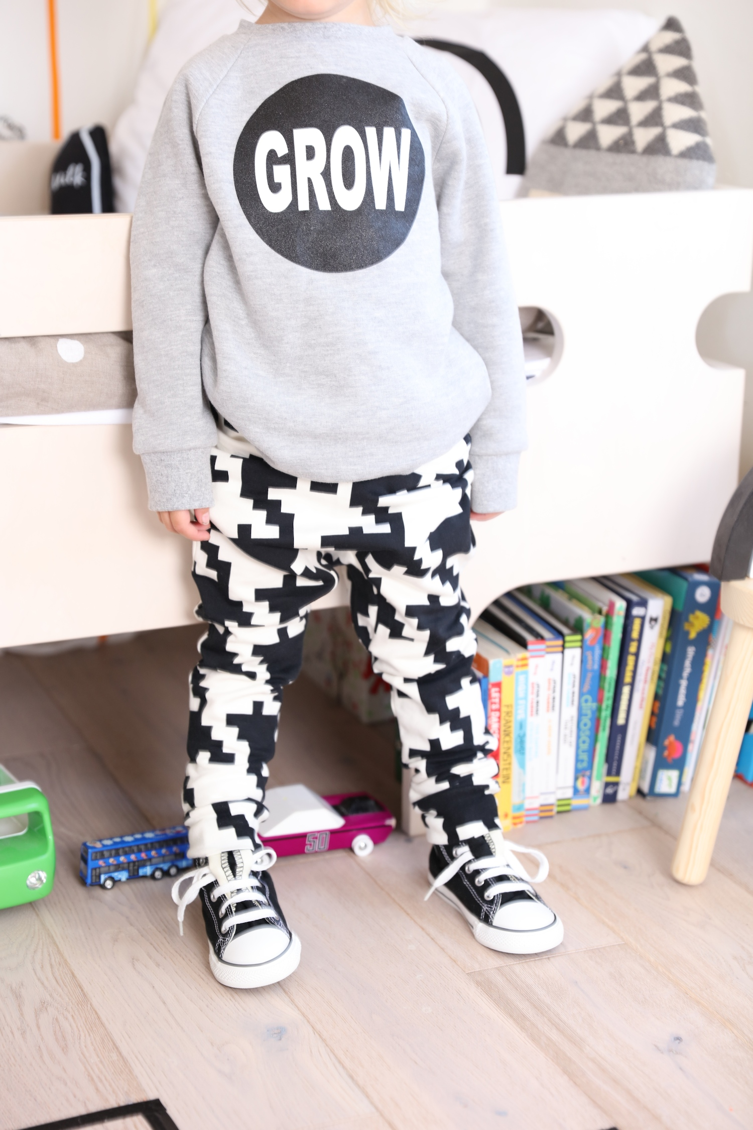 Space_invaders_trousers_little_man_happy_sweatshirt