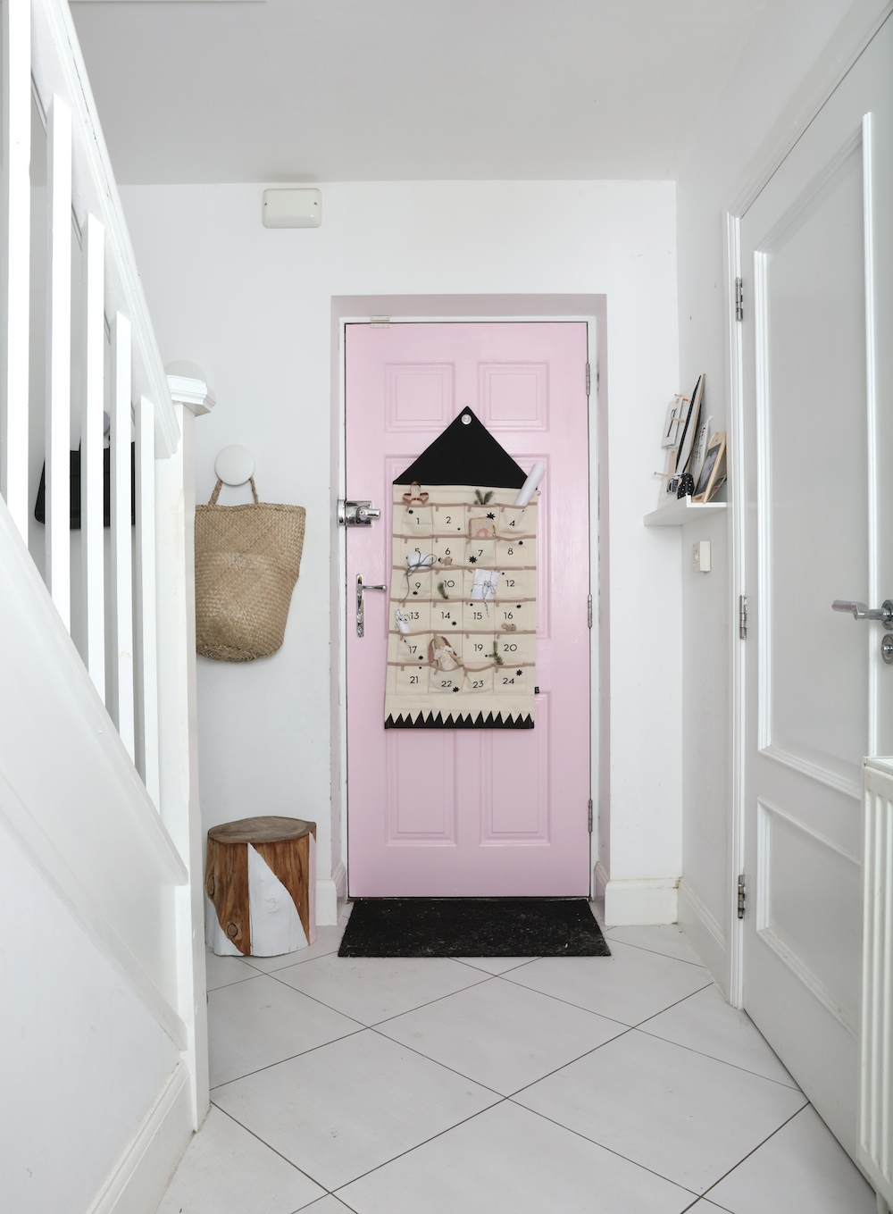chloeuberkid_pink_door_hallway_ferm_living_advent_calendar
